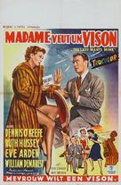 The Lady Wants Mink - Belgian Movie Poster (xs thumbnail)