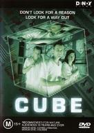 Cube - Australian DVD cover (xs thumbnail)