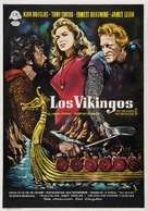 The Vikings - Spanish Movie Poster (xs thumbnail)