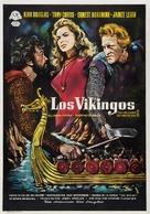 The Vikings - Spanish Movie Poster (xs thumbnail)