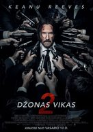 John Wick: Chapter Two - Lithuanian Movie Poster (xs thumbnail)