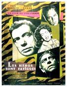 Les héros sont fatigués - French Movie Poster (xs thumbnail)