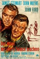 The Man Who Shot Liberty Valance - German Movie Poster (xs thumbnail)