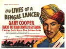 The Lives of a Bengal Lancer - British Movie Poster (xs thumbnail)
