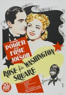 Rose of Washington Square - Swedish Movie Poster (xs thumbnail)