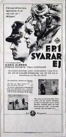 F.P.1 antwortet nicht - Swedish Movie Poster (xs thumbnail)