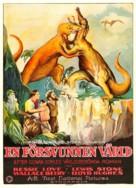 The Lost World - Swedish Movie Poster (xs thumbnail)