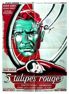 Cinq tulipes rouges - French Movie Poster (xs thumbnail)