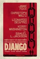 Django Unchained - Vietnamese Movie Poster (xs thumbnail)
