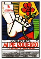 My Left Foot - Spanish Movie Poster (xs thumbnail)
