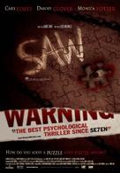 Saw - Australian Theatrical poster (xs thumbnail)
