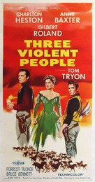Three Violent People - Movie Poster (xs thumbnail)