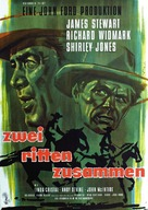 Two Rode Together - German Movie Poster (xs thumbnail)