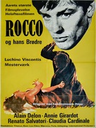 Rocco e i suoi fratelli - Danish Movie Poster (xs thumbnail)
