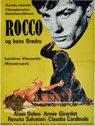Rocco e i suoi fratelli - Danish Movie Poster (xs thumbnail)