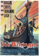 The Vikings - German Movie Poster (xs thumbnail)
