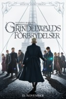 Fantastic Beasts: The Crimes of Grindelwald - Danish Movie Poster (xs thumbnail)