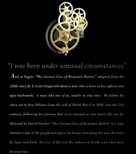 The Curious Case of Benjamin Button - poster (xs thumbnail)