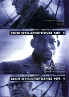 Enemy Of The State - German Movie Poster (xs thumbnail)
