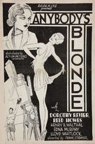 Anybody's Blonde - poster (xs thumbnail)