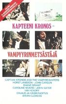 Captain Kronos - Vampire Hunter - Finnish VHS movie cover (xs thumbnail)