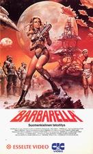 Barbarella - Finnish VHS movie cover (xs thumbnail)