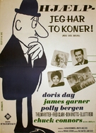 Move Over, Darling - Danish Movie Poster (xs thumbnail)