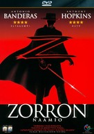 The Mask Of Zorro - Finnish DVD movie cover (xs thumbnail)