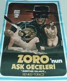Les aventures galantes de Zorro - Turkish Movie Poster (xs thumbnail)