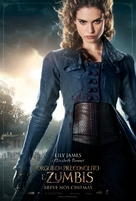 Pride and Prejudice and Zombies - Brazilian Movie Poster (xs thumbnail)