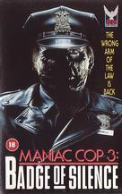 Maniac Cop 3: Badge of Silence - British VHS cover (xs thumbnail)