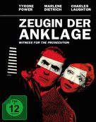 Witness for the Prosecution - German Movie Cover (xs thumbnail)