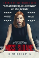 Miss Sloane - British Movie Poster (xs thumbnail)