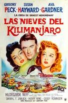 The Snows of Kilimanjaro - Argentinian Movie Poster (xs thumbnail)