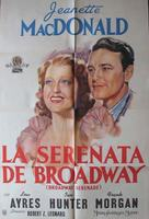 Broadway Serenade - Argentinian Movie Poster (xs thumbnail)