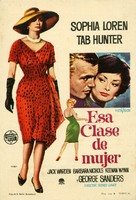 That Kind of Woman - Spanish Movie Poster (xs thumbnail)