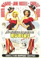 Gentlemen Prefer Blondes - Spanish Movie Poster (xs thumbnail)