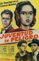 Dangerous Years - Spanish Movie Poster (xs thumbnail)