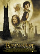 The Lord of the Rings: The Two Towers - Danish Movie Poster (xs thumbnail)