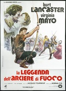 The Flame and the Arrow - Italian Movie Poster (xs thumbnail)
