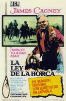 Tribute to a Bad Man - Spanish Movie Poster (xs thumbnail)
