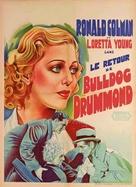 Bulldog Drummond Strikes Back - French Movie Poster (xs thumbnail)