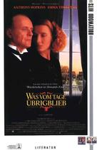 The Remains of the Day - German VHS movie cover (xs thumbnail)