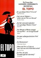 El topo - German Movie Poster (xs thumbnail)