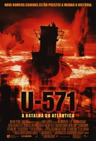 U-571 - Brazilian Movie Poster (xs thumbnail)