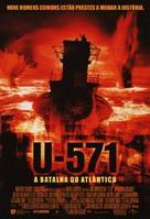 U-571 - Brazilian Movie Poster (xs thumbnail)