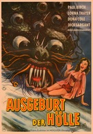 The Beast with a Million Eyes - German Movie Poster (xs thumbnail)
