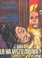 Chi l'ha vista morire? - Spanish Movie Poster (xs thumbnail)