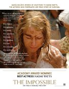 Lo imposible - For your consideration movie poster (xs thumbnail)