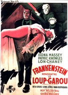 Frankenstein Meets the Wolf Man - French Movie Poster (xs thumbnail)